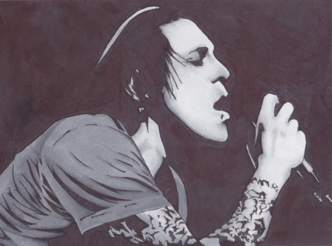 Davey Havok in Black & White
